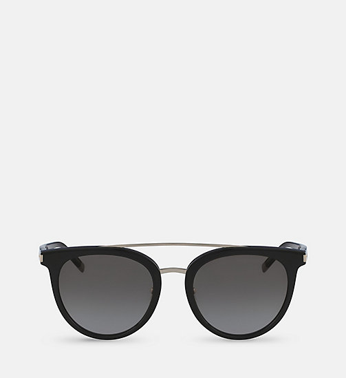 CALVINKLEIN Cat Eye Sunglasses CK4352S - BLACK - CALVIN KLEIN SHOES & ACCESORIES - main image
