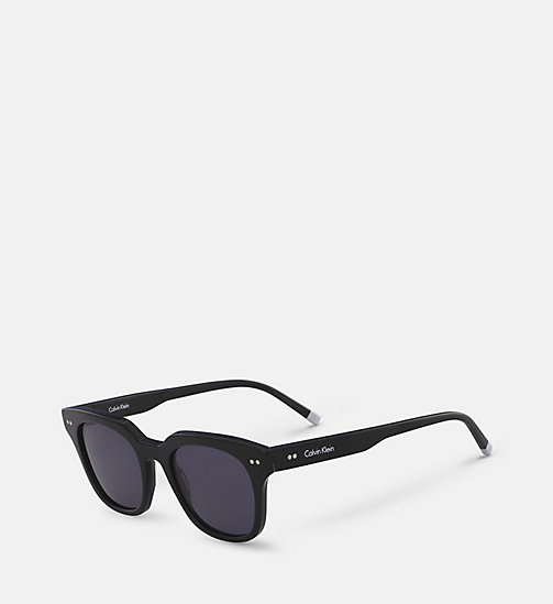 CALVINKLEIN Rectangle Sunglasses CK4353S - BLACK - CALVIN KLEIN SHOES & ACCESSORIES - detail image 1