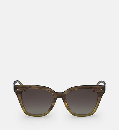 CALVINKLEIN Angular Sunglasses CK4359S - STRIPED BROWN - CALVIN KLEIN SHOES & ACCESORIES - main image