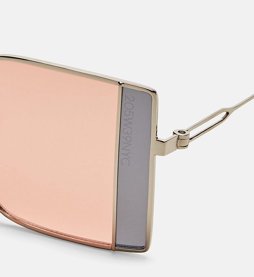 CALVINKLEIN Rectangle Sunglasses CK8057S - SILVER/DARK SILV - CALVIN KLEIN WOMEN - detail image 2
