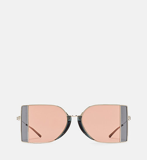 CALVINKLEIN Rectangle Sunglasses CK8057S - NICKEL/CHROME - CALVIN KLEIN EYEWEAR - main image