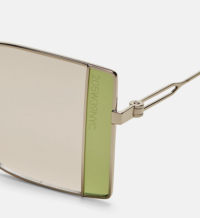 CALVINKLEIN Rectangle Sunglasses CK8057S - GOLDEN/SATIN GEP - CALVIN KLEIN WOMEN - detail image 2