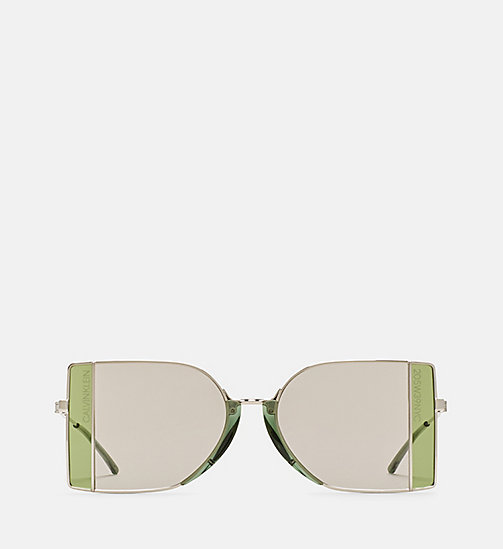 CALVINKLEIN Rectangle Sunglasses CK8057S - SILVER/DARK SILV - CALVIN KLEIN SHOES & ACCESSORIES - main image