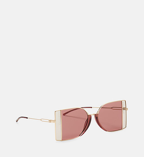CALVINKLEIN Rectangle Sunglasses CK8057S - LIGHT GOLD/ANT GOLD - CALVIN KLEIN EYEWEAR - detail image 1