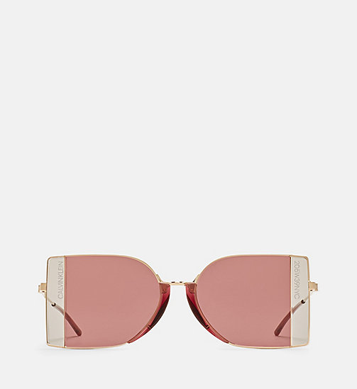 CALVINKLEIN Rectangle Sunglasses CK8057S - LIGHT GOLD/ANT GOLD - CALVIN KLEIN EYEWEAR - main image