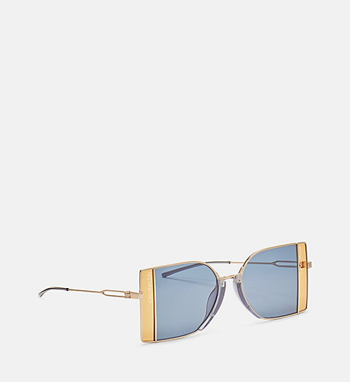 CALVINKLEIN Rectangle Sunglasses CK8057S - GOLDEN/SATIN GEP - CALVIN KLEIN SUNGLASSES - detail image 1