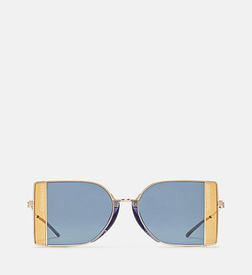 CALVINKLEIN Window Pane Sunglasses - GOLDEN/SATIN GEP - CALVIN KLEIN EYEWEAR - main image