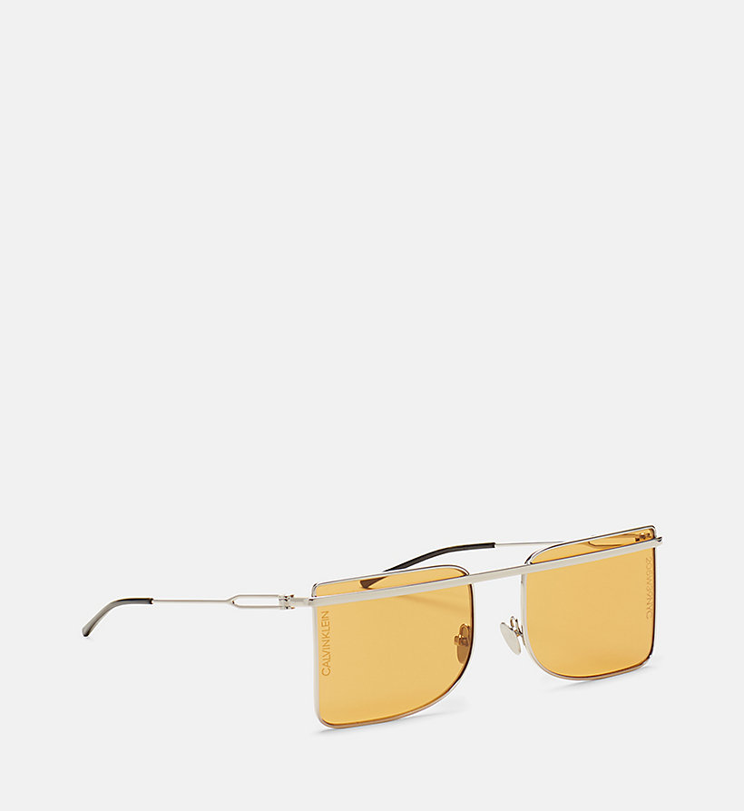 205W39NYC Deco Brow Bar Sunglasses - LIGHT GOLD/ANT GOLD - 205W39NYC WOMEN - detail image 2