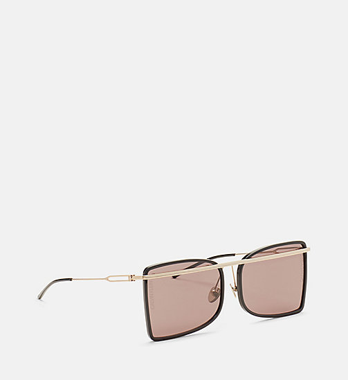 CALVINKLEIN Deco Curved Brow Bar Sunglasses - BLACK/BLACK - CALVIN KLEIN EYEWEAR - detail image 1