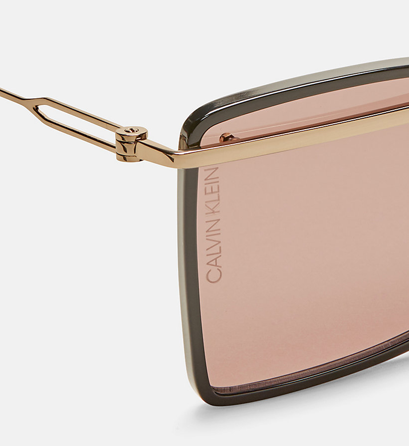 CALVINKLEIN Rectangle Sunglasses CK8578S - WHITE/OPAL/BUFF - CALVIN KLEIN WOMEN - detail image 2