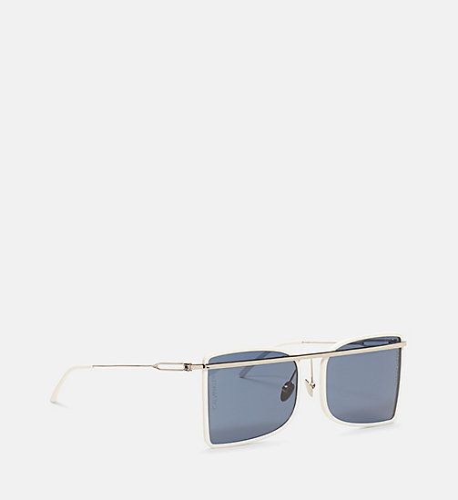 CALVINKLEIN Deco Curved Brow Bar Sunglasses - WHITE/OPAL/BUFF - CALVIN KLEIN EYEWEAR - detail image 1