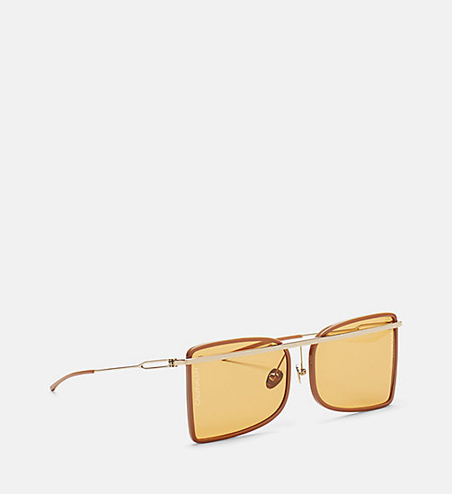 CALVINKLEIN Deco Curved Brow Bar Sunglasses - CAMEL/BROWN - CALVIN KLEIN EYEWEAR - detail image 1