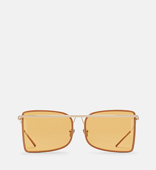 205W39NYC Deco Curved Brow Bar Sunglasses - CAMEL/BROWN - 205W39NYC EYEWEAR - main image