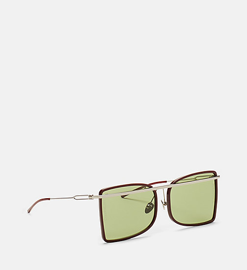 CALVINKLEIN Deco Curved Brow Bar Sunglasses - BURGUNDY/ROSE - CALVIN KLEIN EYEWEAR - detail image 1
