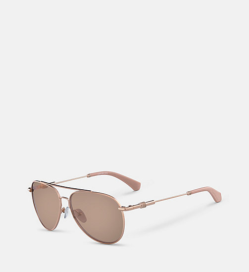 CALVINKLEIN Aviator Sunglasses CKJ162S - ROSE GOLD - CALVIN KLEIN SHOES & ACCESSORIES - detail image 1