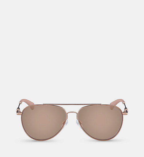 CALVINKLEIN Aviator Sunglasses CKJ162S - ROSE GOLD - CALVIN KLEIN SHOES & ACCESSORIES - main image