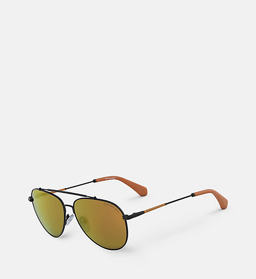 CALVIN KLEIN JEANS Aviator Sunglasses CKJ164S - MATTE BLACK - CALVIN KLEIN JEANS SHOES & ACCESSORIES - detail image 1