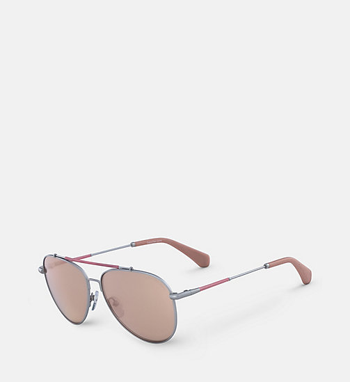 CALVIN KLEIN JEANS Aviator Sunglasses CKJ164S - SATIN NICKEL/DUSK -  HEAT WAVE - detail image 1