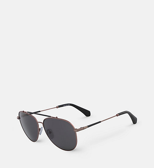 CALVIN KLEIN JEANS Aviator Sunglasses CKJ164S - SATIN COPPER - CALVIN KLEIN JEANS SHOES & ACCESSORIES - detail image 1