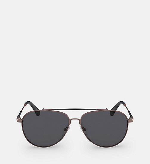 CALVIN KLEIN JEANS Aviator Sunglasses CKJ164S - SATIN COPPER - CALVIN KLEIN JEANS SHOES & ACCESSORIES - main image
