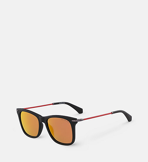 CALVIN KLEIN JEANS Rectangle Sunglasses CKJ512S - WARM TORTOISE - CALVIN KLEIN JEANS SUNGLASSES - detail image 1