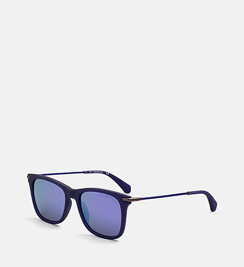 CALVIN KLEIN JEANS Rectangle Sunglasses CKJ512S - MATTE CRYSTAL INDIGO - CALVIN KLEIN JEANS SUNGLASSES - detail image 1