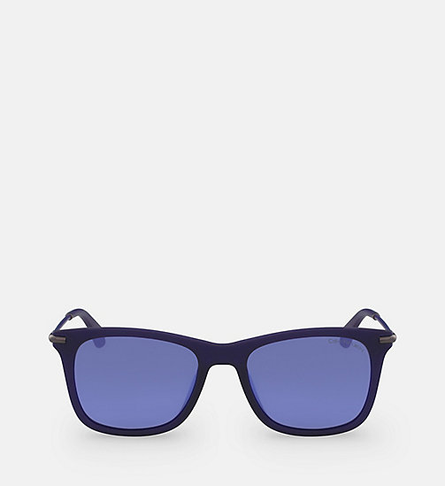 CALVIN KLEIN JEANS Rectangle Sunglasses CKJ512S - MATTE CRYSTAL INDIGO - CALVIN KLEIN JEANS SUNGLASSES - main image