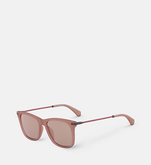 CALVIN KLEIN JEANS Rectangle Sunglasses CKJ512S - MATTE CRYSTAL DUSK - CALVIN KLEIN JEANS SUNGLASSES - detail image 1