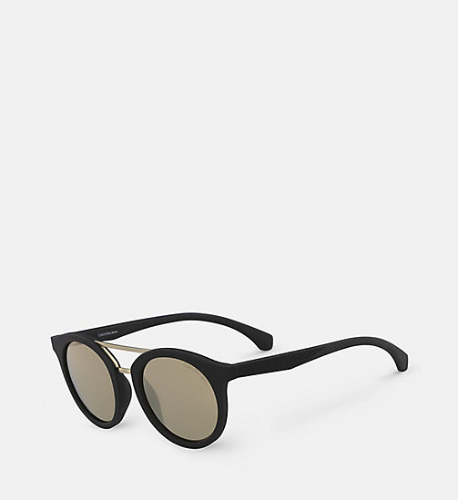 CALVIN KLEIN JEANS Round Sunglasses CKJ817S - SOFT TO THE TOUCH BLACK - CALVIN KLEIN JEANS SUNGLASSES - detail image 1
