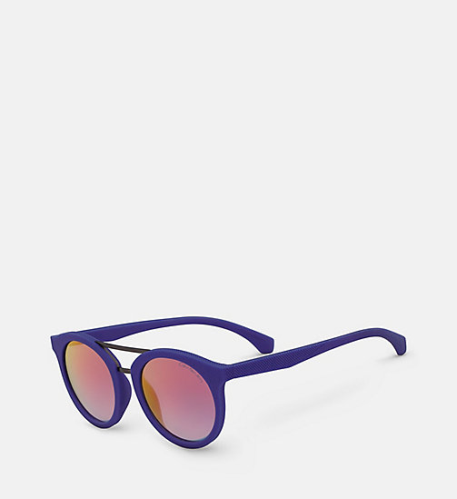 CALVIN KLEIN JEANS Round Sunglasses CKJ817S - ELECTRIC BLUE -  SHOES & ACCESSORIES - detail image 1