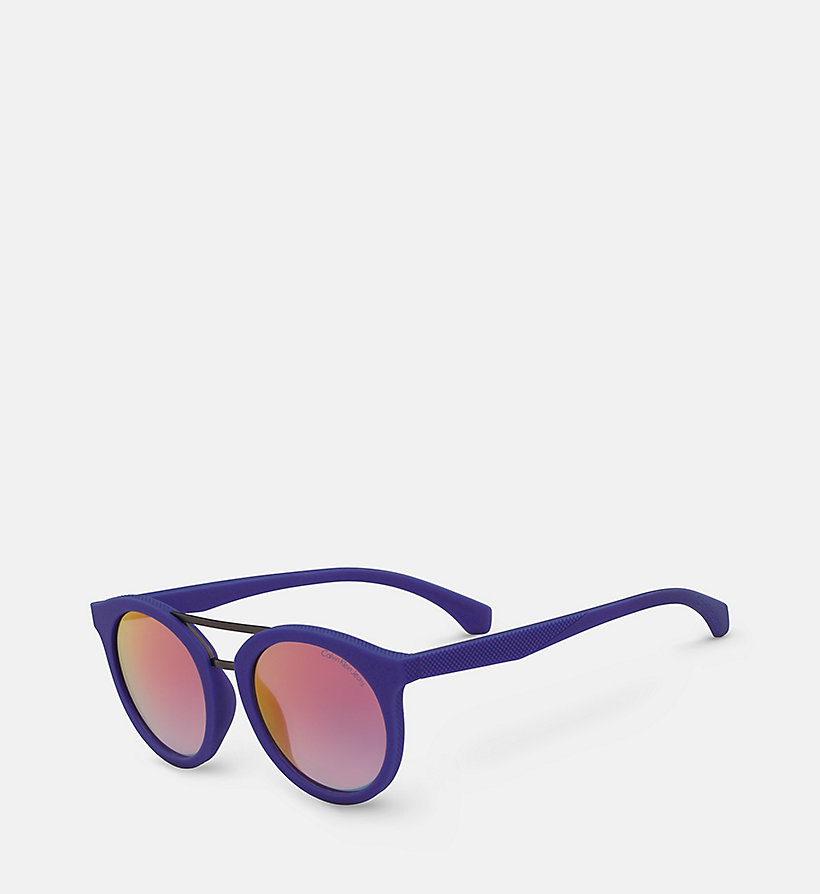 CALVIN KLEIN JEANS Round Sunglasses CKJ817S - SOFT TO THETOUCH BERRY - CALVIN KLEIN JEANS WOMEN - detail image 1