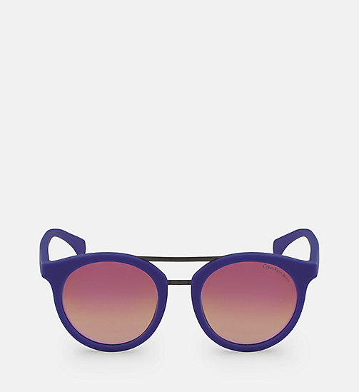 CALVIN KLEIN JEANS Round Sunglasses CKJ817S - ELECTRIC BLUE - CALVIN KLEIN JEANS SHOES & ACCESSORIES - main image