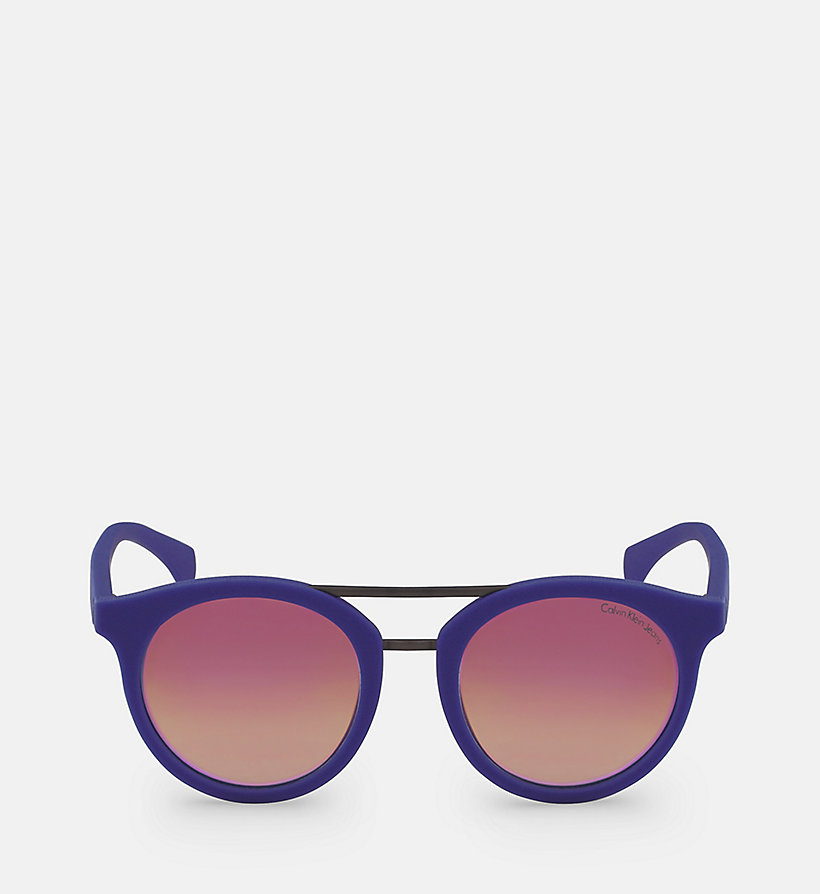 CALVIN KLEIN JEANS Round Sunglasses CKJ817S - SOFT TO THETOUCH BERRY - CALVIN KLEIN JEANS WOMEN - main image
