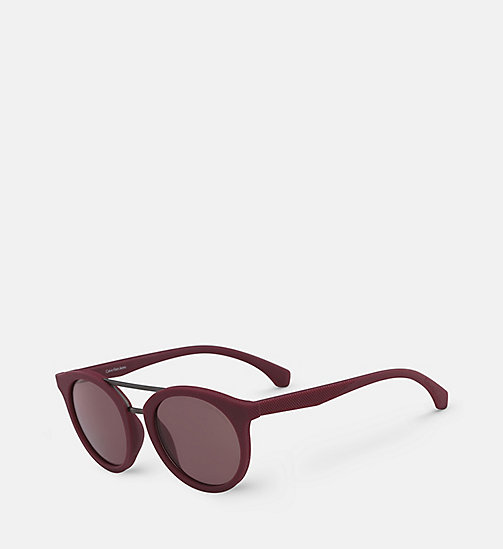 CALVIN KLEIN JEANS Round Sunglasses CKJ817S - SOFT TO THETOUCH BERRY -  HEAT WAVE - detail image 1
