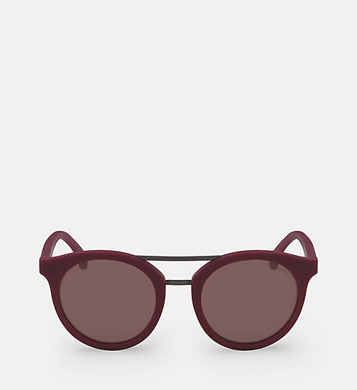 CALVIN KLEIN JEANS Round Sunglasses CKJ817S - SOFT TO THETOUCH BERRY -  HEAT WAVE - main image