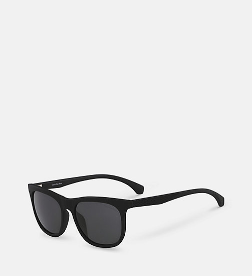 CALVINKLEIN Rectangle Sunglasses CKJ818S - SOFT TOUCH BLACK - CALVIN KLEIN SUNGLASSES - detail image 1