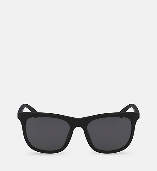 CALVINKLEIN Rectangle Sunglasses CKJ818S - SOFT TOUCH BLACK - CALVIN KLEIN SUNGLASSES - main image