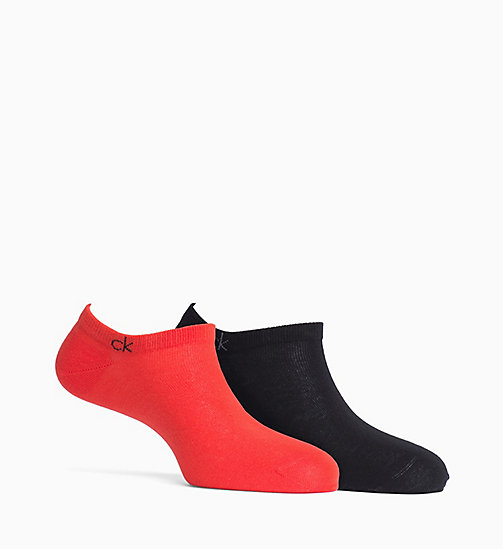 CALVIN KLEIN 2-pack footies - FIERY RED/BLACK - CALVIN KLEIN ONDERGOED - main image