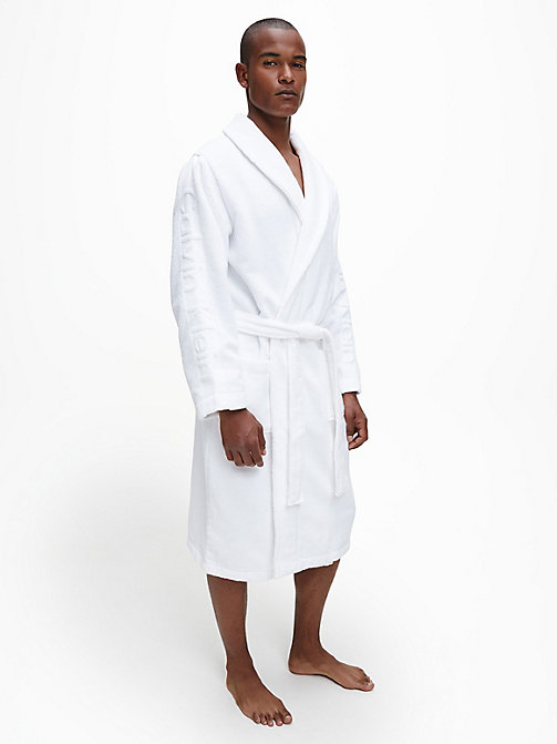 CALVINKLEIN Bathrobe - WHITE - CALVIN KLEIN BATHROBES - main image