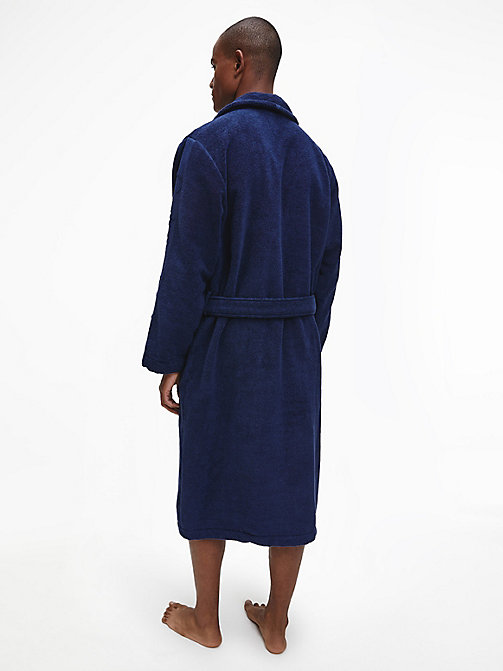 CALVINKLEIN Bathrobe - BLUE SHADOW - CALVIN KLEIN BATHROBES - detail image 1