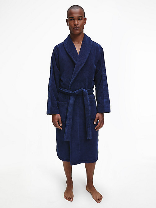CALVINKLEIN Bathrobe - BLUE SHADOW - CALVIN KLEIN BATHROBES - main image