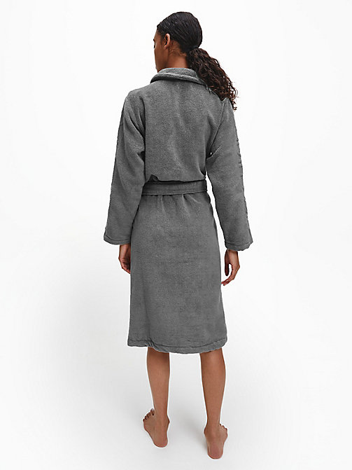CALVIN KLEIN Logo Robe - GREY - CALVIN KLEIN ALL GIFTS - detail image 1