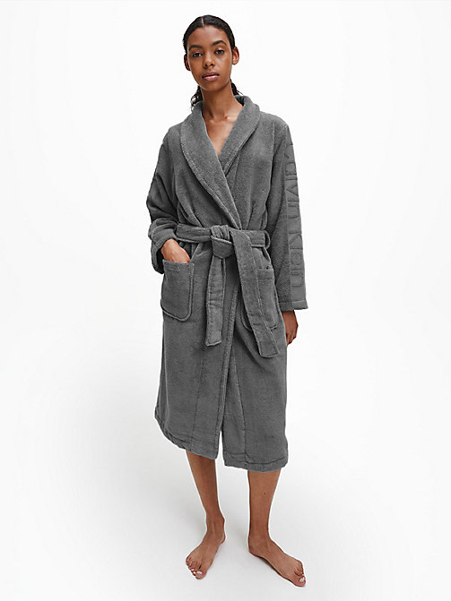 CALVIN KLEIN Logo Robe - GREY - CALVIN KLEIN ALL GIFTS - main image