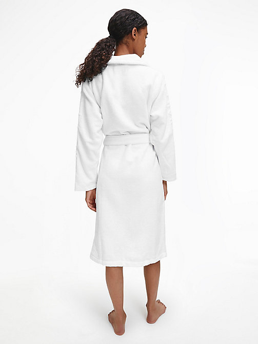 CALVIN KLEIN Logo Robe - WHITE - CALVIN KLEIN ALL GIFTS - detail image 1