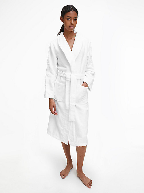 CALVIN KLEIN Logo Robe - WHITE - CALVIN KLEIN ALL GIFTS - main image