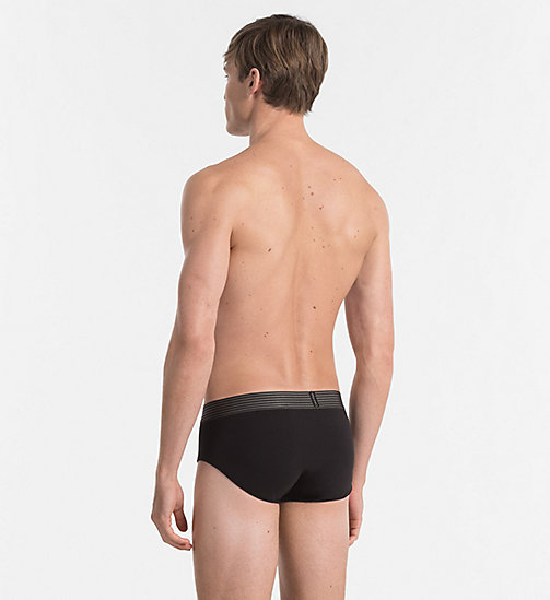 CALVIN KLEIN Hip Briefs - Iron Strength - BLACK - CALVIN KLEIN BRIEFS - detail image 1