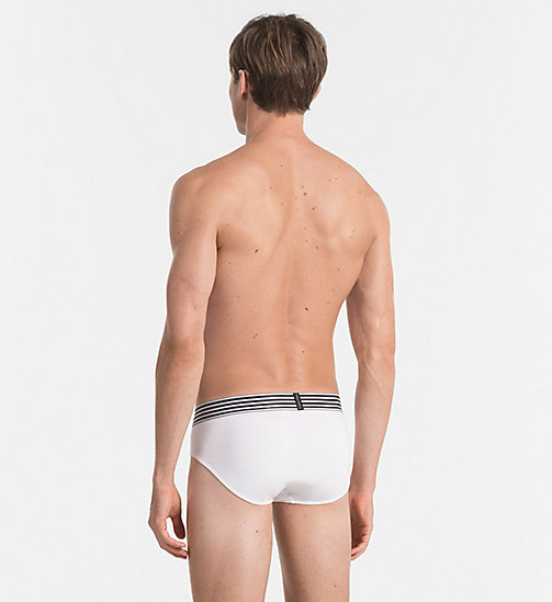 CALVIN KLEIN Hip Briefs - Iron Strength - WHITE - CALVIN KLEIN BRIEFS - detail image 1