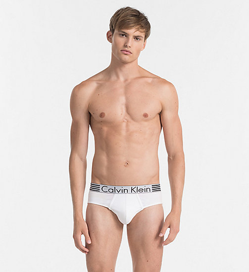 CALVIN KLEIN Hip Briefs - Iron Strength - WHITE - CALVIN KLEIN BRIEFS - main image