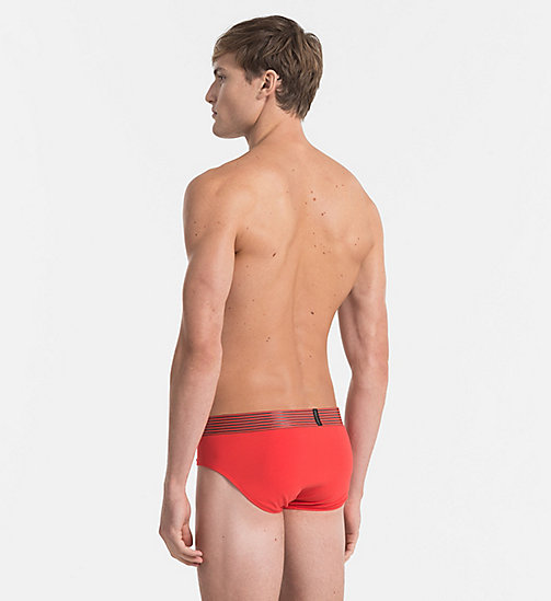 CALVINKLEIN Hip Briefs - Iron Strength - ROBIN RED - CALVIN KLEIN NEW IN - detail image 1