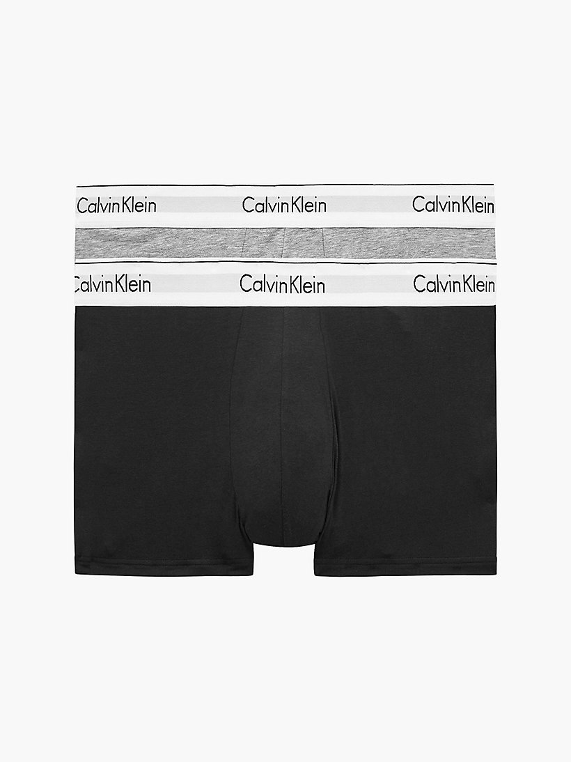 CALVINKLEIN 2 Pack Trunks - Modern Cotton - SIMMER GREEN/ SALUTE - CALVIN KLEIN UNDERWEAR - main image